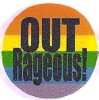Rainbow Outrageous! Button