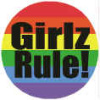 Rainbow Girlz Rule Button