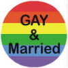 Rainbow Gay and Married Button