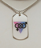 NEW- Exclusive Bi Pride Dog Tag
