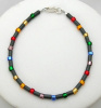 Frosted Tube Hematite Anklet