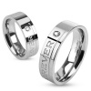 """Love You Forever"" Steel Ring"