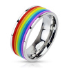 Rainbow Rubber Bands Steel Ring