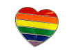 NEW- Rainbow Heart Lapel
