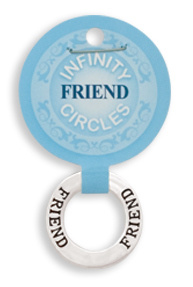 """Friend"" Infinity Pendant"