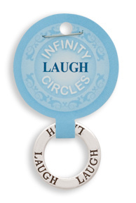 """Laugh"" Infinity Pendant"