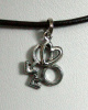 NEW- Dbl Male Heart Pewter Necklace