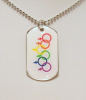 NEW- Exclusive Rainbow Female Dog Tag